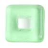 Glass Squares 12x12mm Transparent Medium Green